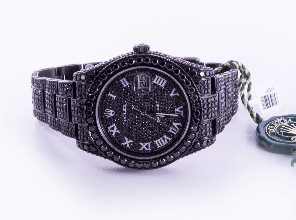 Rolex Datejust 41 Black Diamond set Watch