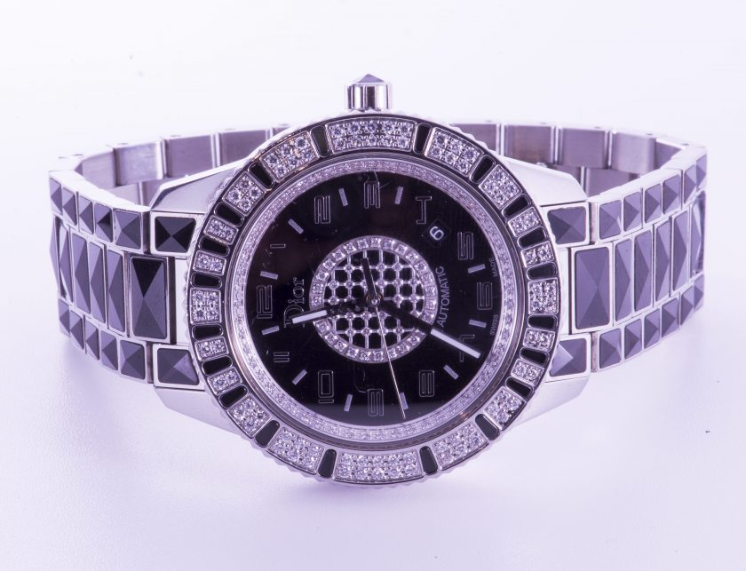 Dior Christal Black 42 mm Diamond Watch