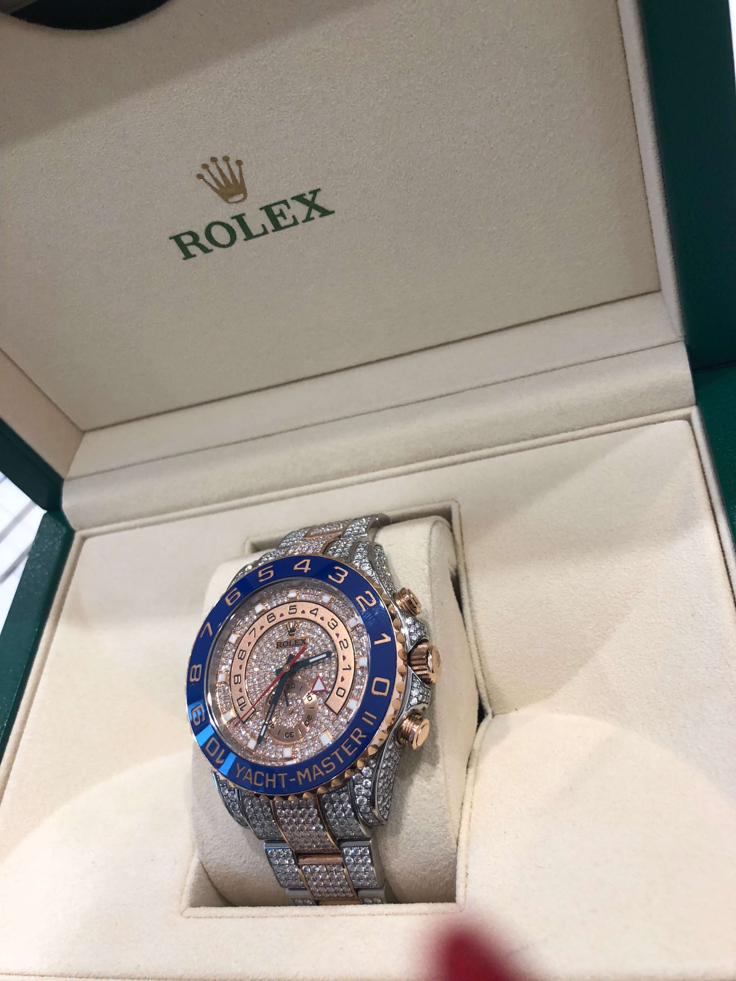 Rolex Yachtmaster 2-tone Diamond set watch