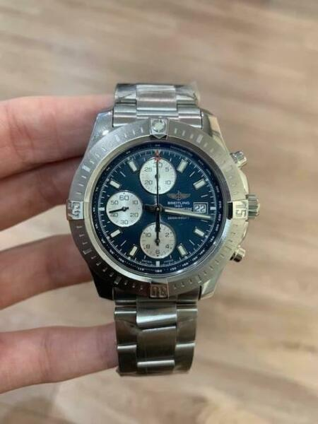 Breitling Chronograph Colt steel watch ref: A1133881