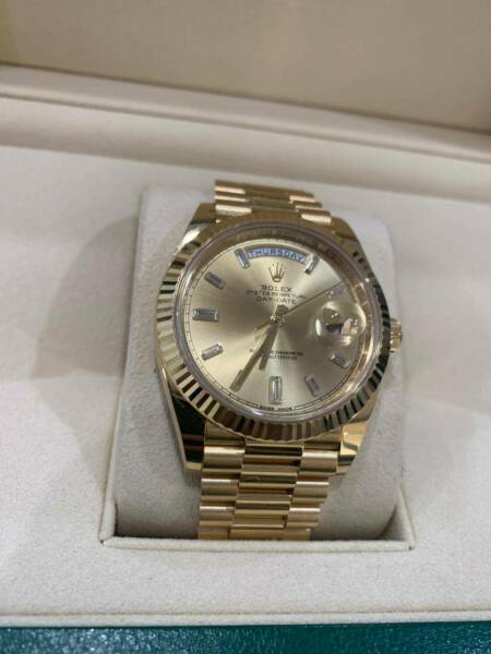 Rolex Day Date 40 YG diamond dial watch Ref: 228238