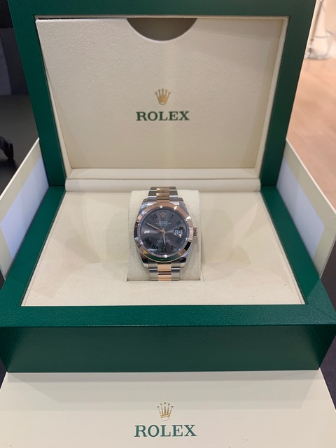 Rolex Datejust 41 Rose gold with Slate ref:126301